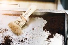 Земли кофе в кофейне Стоковые Изображения RF