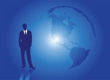земля бизнесмена иллюстрация вектора