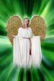 земля блондинкы ангела aa стоковое изображение