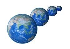 Земля большая к малому Стоковое Изображение