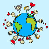 Земля влюбленности Стоковая Фотография RF