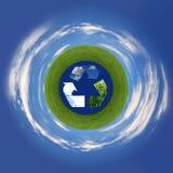 земля воздуха рециркулируя представляющ символ моря Стоковые Фото