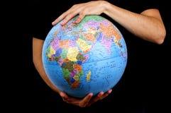 земля вручает наше Стоковое Изображение RF
