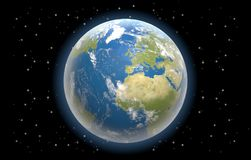 Земля всемирное 3d-illustration планеты Стоковое Изображение RF