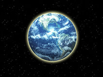 Земля в космосе Стоковые Изображения RF
