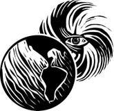 Земля глаза урагана Стоковые Фото