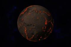 земля засаживает воду Стоковые Фотографии RF