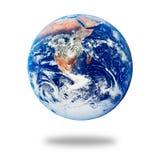 земля изолировала белизну планеты Стоковое Изображение