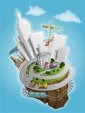 земля иллюстрации города Стоковые Фотографии RF