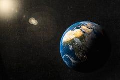 Земля и африканский континент Стоковое Изображение