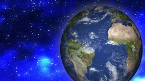 Земля и луна от космоса иллюстрация штока
