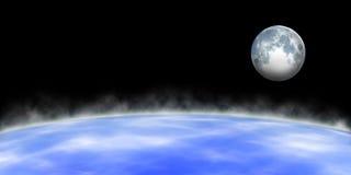 Земля и луна Стоковая Фотография RF