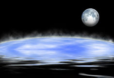 Земля и луна Стоковые Изображения