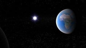 Земля и Sun Стоковое Изображение