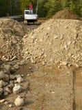земля конструкции backhoe складывает v стоковые изображения rf