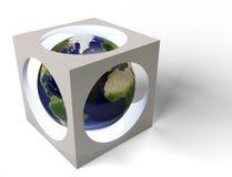 земля кубика Иллюстрация штока