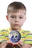 земля мальчика Стоковое Фото