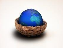 земля насиживая гнездй Стоковые Изображения
