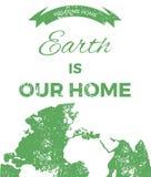 Земля наш дом планета иллюстрации иконы зажима абстрактного искусства иллюстрация штока