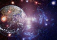 Земля от космоса Элементы этого изображения поставленные NASA стоковое изображение