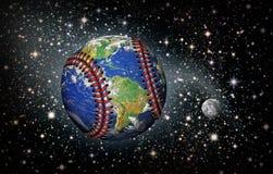 Земля планеты бейсбола в космосе Стоковое Фото