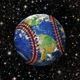 Земля планеты бейсбола в космосе Стоковое Изображение