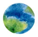 Земля планеты - красивая покрашенная вручную иллюстрация акварели иллюстрация вектора