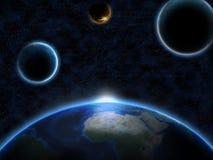 Земля планеты от космоса стоковая фотография