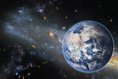 Земля планеты, элементы этого изображения поставленные NASA Концепция Стоковое Изображение