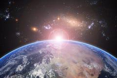 Земля планеты, элементы этого изображения поставленные NASA Концепция Стоковая Фотография