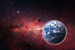 Земля планеты, элементы этого изображения поставленные NASA Концепция Стоковые Фотографии RF