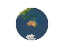 Земля показывая Австралию Стоковые Изображения