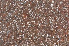 Земля покрытая с малым Graupel, мягкий оклик, лепешки снега Стоковое Фото