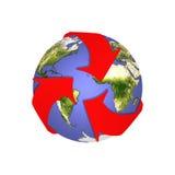 земля рециркулирует sos иллюстрация вектора