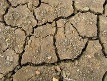 земля треснутая предпосылкой Стоковая Фотография RF
