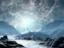 земля фантазии иллюстрация штока