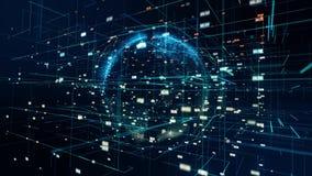 Земля частицы в цифровом космосе акции видеоматериалы