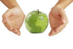 земля яблока стоковая фотография