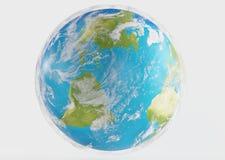 Земля 3d-illustration планеты мира Элементы этого furni изображения Стоковые Фото