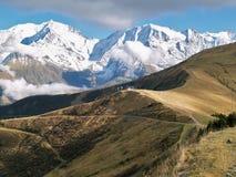 Земля Mont-Blanc, французского альп Стоковые Фотографии RF
