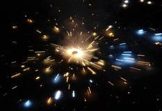 Земной вращая фейерверк Стоковые Фото