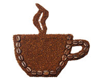 Земной кофе в форме чашки кофе Стоковое фото RF