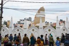 Землетрясение Непала в Катманду Стоковое Фото