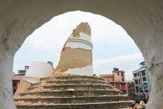 Землетрясение Непала в Катманду Стоковые Фото