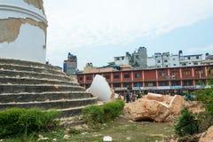 Землетрясение Непала в Катманду Стоковые Изображения RF