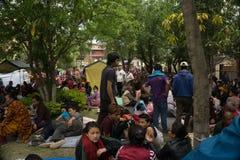 Землетрясение 2015 Непала Катманду стоковые фото