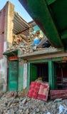 Землетрясения Непала Стоковые Изображения RF