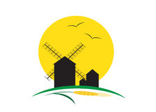 Земледелие логотипа Стоковое Изображение