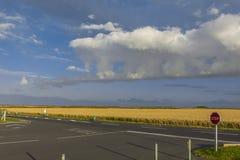 Земледелие fields пляж Нормандия Франция Juno Стоковое Изображение RF