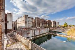 Земли бывшей атомной электростанции конструкции Стоковые Изображения